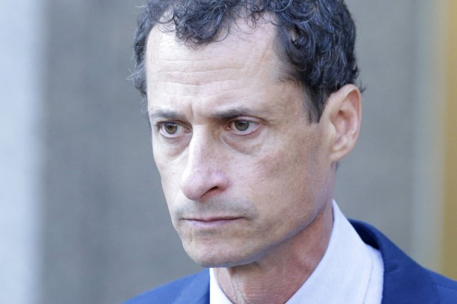 Former Rep. Anthony Weiner walks out of court on September 25 after being sentenced to prison. Monday, he entered the Federal Medical Center-Devens near Boston. File Photo by John Angelillo/UPI