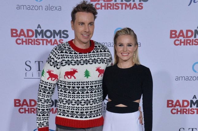 Kristen Bell (R), pictured with Dax Shepard, celebrated her birthday with her family Wednesday. File Photo by Jim Ruymen/UPI