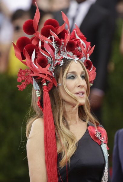 Sarah Jessica Parker arrives on the red carpet at the Costume Institute Benefit at The Metropolitan Museum of Art celebrating the opening of China: Through the Looking Glass in New York City on May 4, 2015. Photo by John Angelillo/UPI