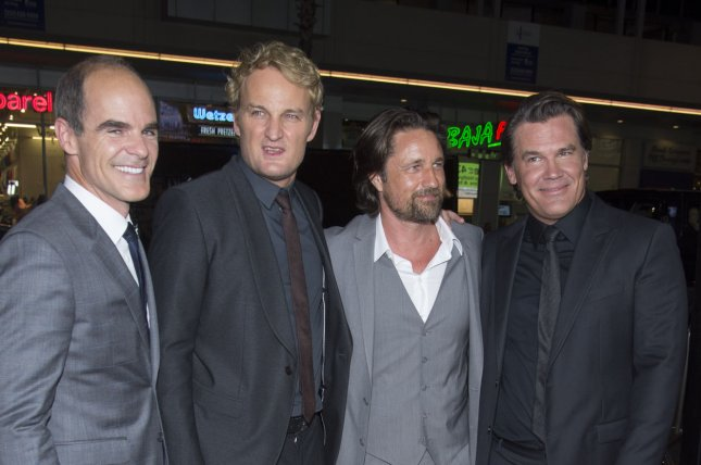 Cast members (L-R) Michael Kelly, Jason Clarke, Martin Henderson and Josh Brolin attend the premiere of the motion picture thriller Everest at the TCL Chinese Theatre in the Hollywood section of Los Angeles on Sept. 9, 2015. Storyline: On the morning of May 10, 1996, climbers from two expeditions start their final ascent toward the summit of Mount Everest, the highest point on Earth. With little warning, a violent storm strikes the mountain, engulfing the adventurers in one of the fiercest blizzards ever encountered by man. Photo by Phil McCarten/UPI