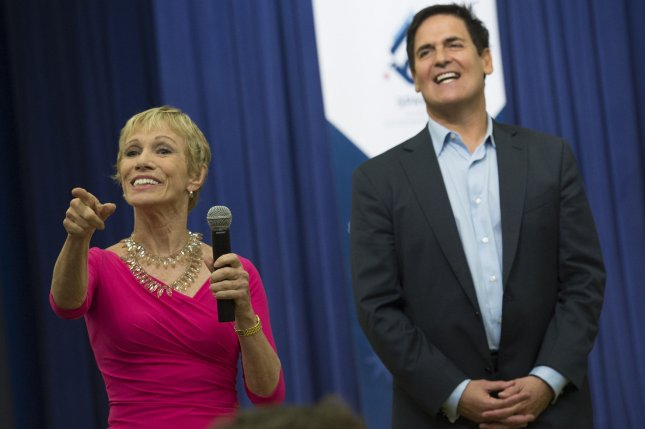 Shark Tank hosts Barbara Corcoran (L) and Mark Cuban talk to entrepreneurs from around the world during an event hosted by President Barack Obama in Washington, D.C. on May 11, 2015. Corcoran was the first celebrity eliminated Monday in Season 25 of Dancing with the Stars. File Photo by Kevin Dietsch/UPI