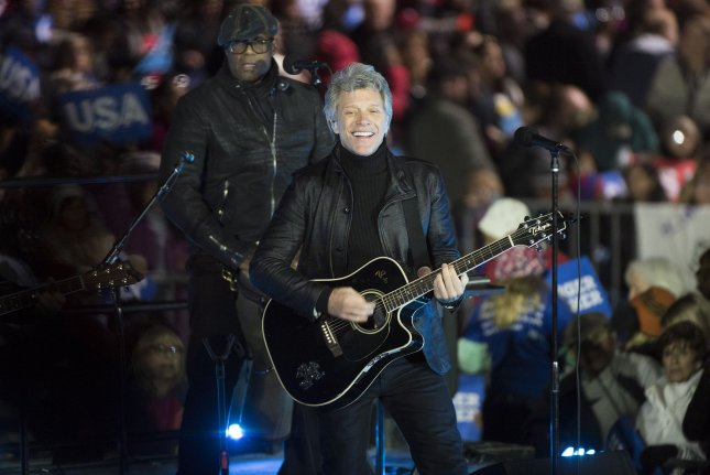 Bon Jovi will be inducted into the Rock and Roll Hall of Fame along with Nina Simone, The Cars and others. File Photo by Kevin Dietsch/UPI