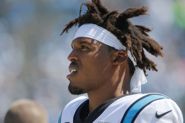 Former Carolina Panthers quarterback Cam Newton was released last month after nine seasons in Carolina. File Photo by Nell Redmond/UPI