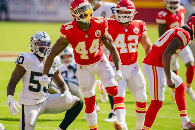 The Kansas City Chiefs take on the Las Vegas Raiders in one of the most-important divisional NFL matchups of Week 11 on Sunday in Paradise, Nev. File Photo by Kyle Rivas/UPI