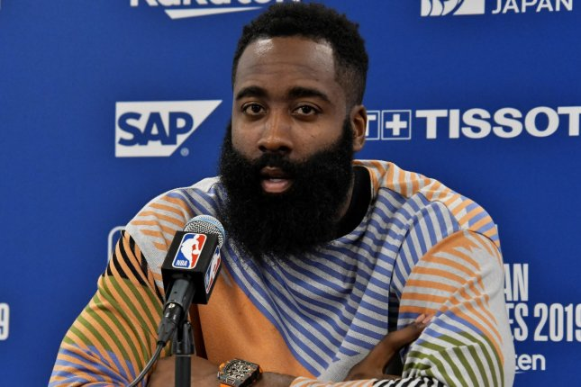 Houston Rockets star James Harden will not be suspended for violating the NBA's COVID-10 safety guidelines. File Photo by Keizo Mori/UPI