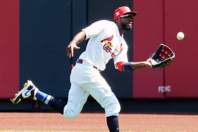 Veteran outfielder Dexter Fowler will likely take over in right field for the Los Angeles Angels after he was traded to the team on Thursday from the St. Louis Cardinals. File Photo by Bill Greenblatt/UPI