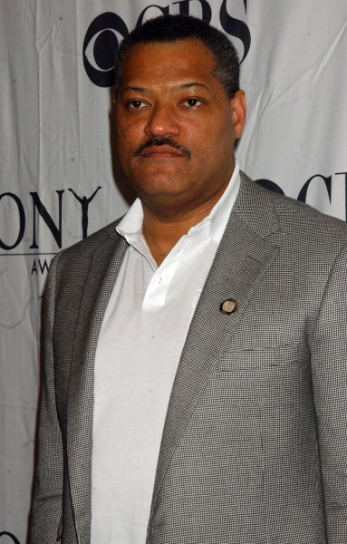 Actor Laurence Fishburne, nominated for his work in the play Thurgood, arrives for the Meet the Tony Award Nominees luncheon at the Hilton Hotel in New York on May 14, 2008. (UPI Photo/Ezio Petersen)