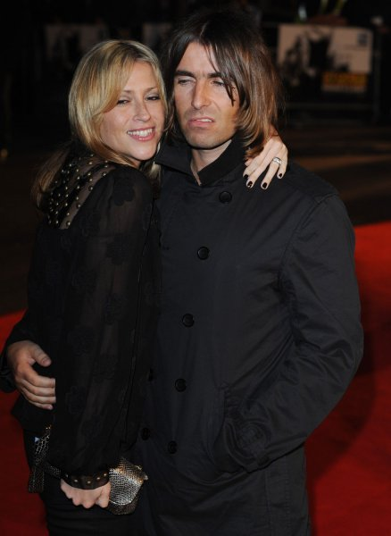 British Singers Liam Gallagher From Oasis And Wife Nicole Appleton From All Saints Attend The Premiere Of Shine A Light At Odeon Leicester Square In