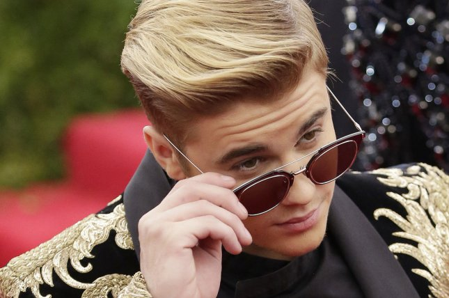 Justin Bieber arrives at the Costume Institute Benefit at the Metropolitan Museum of Art on May 4, 2015. Photo by John Angelillo/UPI