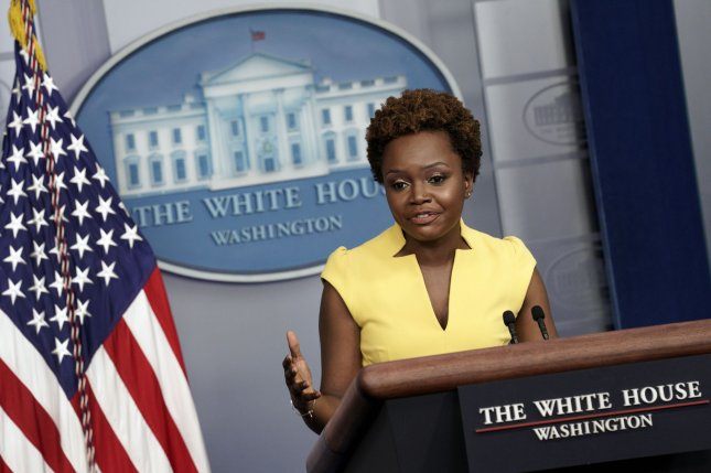 Karine Jean-Pierre, the White House principal deputy press secretary, on Wednesday became the first Black woman to lead a formal White House press briefing in 30 years. Photo by Yuri Gripas/UPI