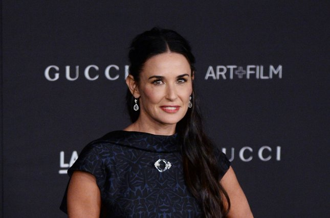 A dead body was found at the bottom of Demi Moore's pool while the actress was out of town Sunday. Photo by Jim Ruymen/UPI
