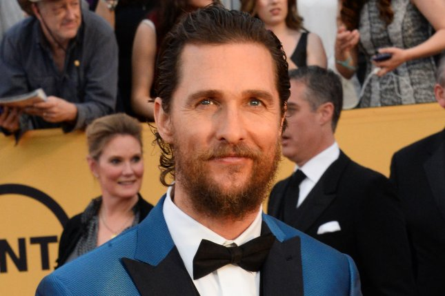Actor Matthew McConaughey arrives for the 21st annual SAG Awards on January 25, 2015. File Photo by Jim Ruymen/UPI