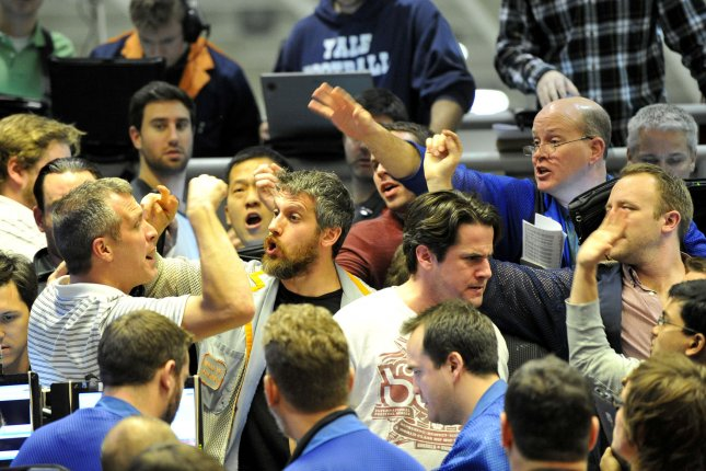 Market jitters ahead of President Donald Trump's announcement on the Iranian nuclear deal sent oil prices lower in early Tuesday trading. File Photo by Brian Kersey/UPI