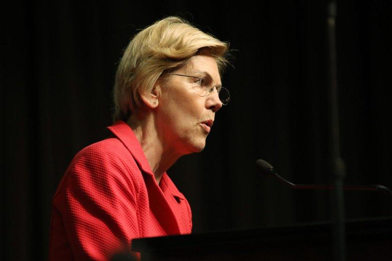 Sen. Elizabeth Warren, D-Mass., has called on the House of Representatives to begin impeachment of President Donald Trump. Photo by Monika Graff/UPI