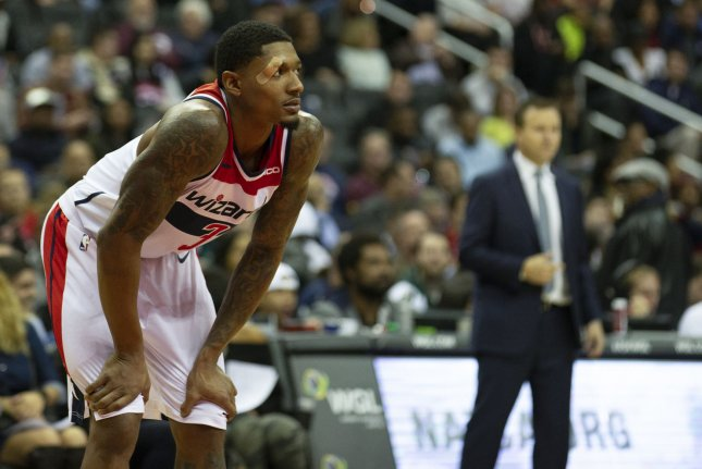 Washington Wizards guard Bradley Beal averaged a career-best 30.5 points and 6.1 assists per game this season. File Photo by Alex Edelman/UPI
