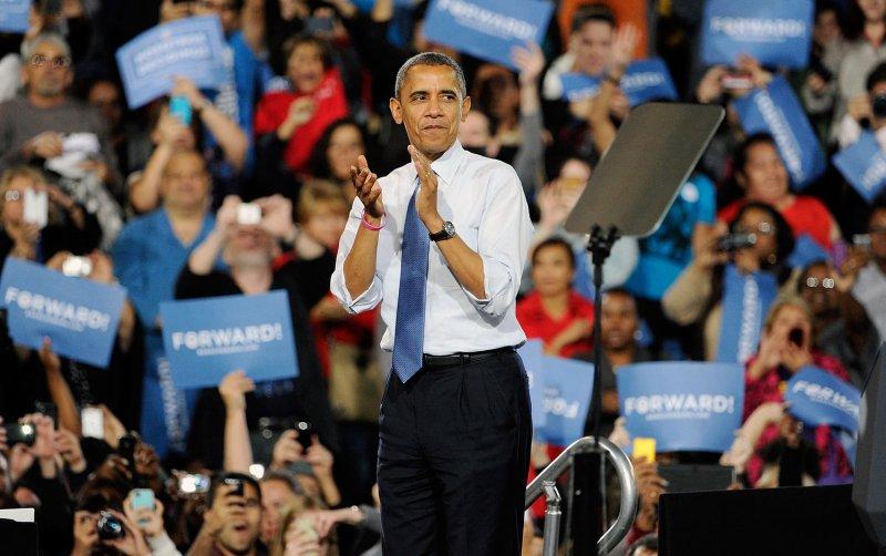 President Barack Obama at a campaign event at Doolittle Park in Las Vegas, Oct. 24, 2012. UPI/David Becker