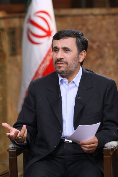 Iranian President Mahmoud Ahmadinejad speaks during an interview with Iranian state-run television at the presidential place in Tehran, Iran on Dec 18,2010. Ahmadinejad announced a plan to start to cut subsides for energy and food in Iran. Photo provided by the presidential office. UPI