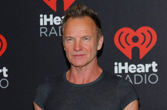Sting arrives for the iHeartRadio Music Festival on September 24, 2016. Sting is set to recieve the Merit Award at the 2016 American Music Awards. File Photo by James Atoa/UPI