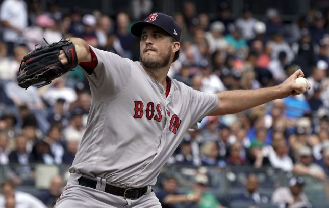 Drew Pomeranz and the Boston Red Sox silenced the Detroit Tigers on Thursday. Photo by Ray Stubblebine/UPI