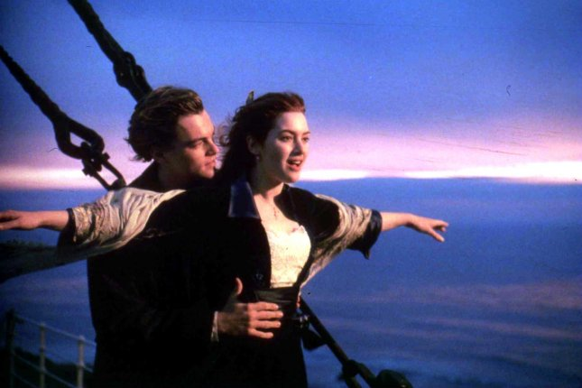 Leonardo DiCaprio and Kate Winslet are pictured in a scene from Titanic. The film was nominated February 10, 1998 for 14 Academy Awards, including Best Picture. It went on to win 11. File Photo by Jim Ruymen/UPI