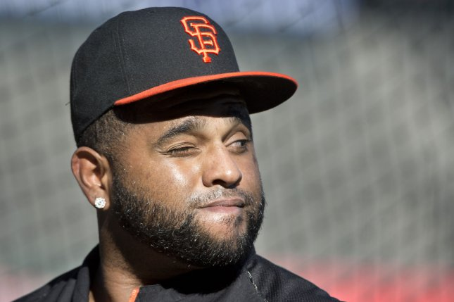 San Francisco Giants star Pablo Sandoval is a three-time World Series champion. File Photo by Terry Schmitt/UPI