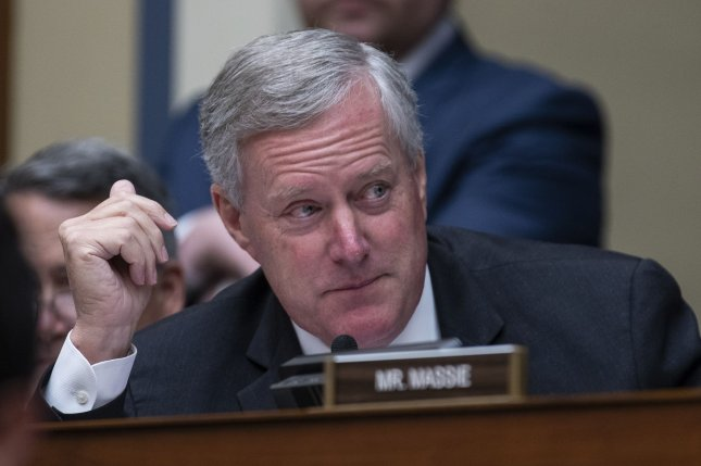 Rep. Mark Meadows of North Carolina said he's always known his time in Congress was limited, and vowed to continue supporting President Donald Trump. File Photo by Alex Edelman/UPI