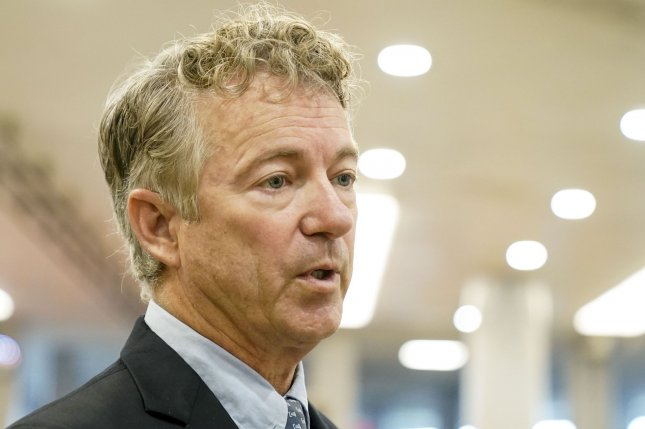 The Senate voted 55-45 on Tuesday to set aside a motion by Sen. Rand Paul, R-Ky., to declare the impeachment trial against former President Donald Trump unconstitutional. Photo by Leigh Vogel/UPI