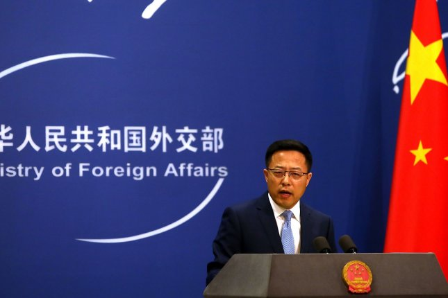 Chinese foreign ministry spokesman Zhao Lijian said Wednesday the United States was seeking to disrupt ties between China and ASEAN. File Photo by Stephen Shaver/UPI