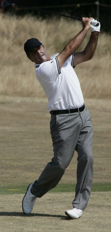 Spaniard Seve Ballesteros, shown at the British Open July 19, 2006. (UPI Photo/Hugo Philpott)