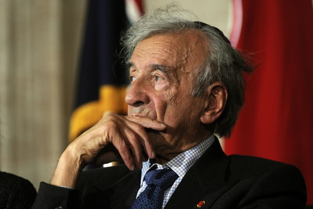Elie Wiesel participates in a National Days of Remembrance commemoration of the Holocaust in the Rotunda of the U.S. Capitol in Washington in 2011. The author, academic and Holocaust survivor died Saturday. He was 87. File photo by Roger L. Wollenberg/UPI