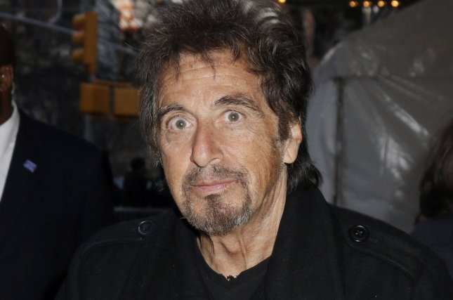 Al Pacino arrives on the red carpet at the 'Danny Collins' New York premiere at AMC Lincoln Square Theater on March 18, 2015. File Photo by John Angelillo/UPI