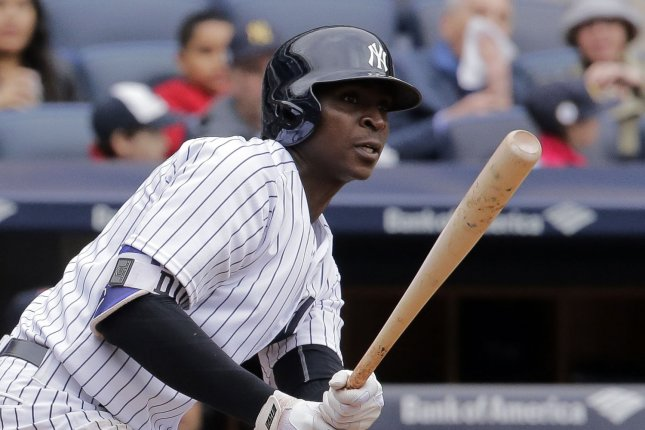 Didi Gregorius and the New York Yankees outlasted the Boston Red Sox on Saturday. Photo by Ray Stubblebine/UPI