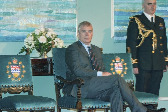 Prince Andrew announced he will step back from public life as the Jeffrey Epstein scandal takes a toll on his life. Photo by Heinz Ruckemann/UPI