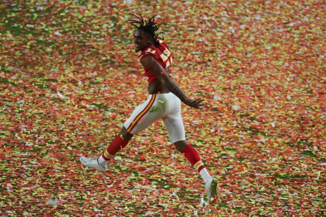 Kansas City Chiefs wide receiver Demarcus Robinson had 32 catches for 449 yards last season. File Photo by Tasos Katopodis/UPI
