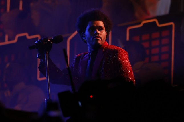 The Weeknd performs during half time at Super Bowl LV at Raymond James Stadium in Tampa, Fla., on February 7. The singer turns 31 on February 16. Photo by John Angelillo/UPI