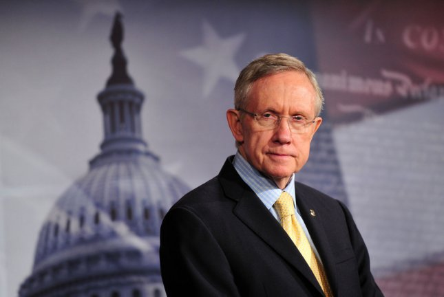 Senate Majority Harry Reid (D-NV) attends a press conference on the ongoing federal government budget negotiations, in Washington on April 7, 2011. UPI/Kevin Dietsch