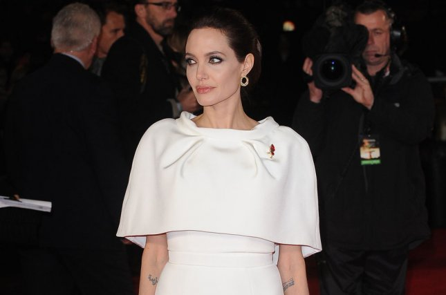 American actress Angelina Jolie attends the UK Premiere of 'Unbroken' at Odeon Leicester Square in London on Nov. 25, 2014. UPI/Paul Treadway