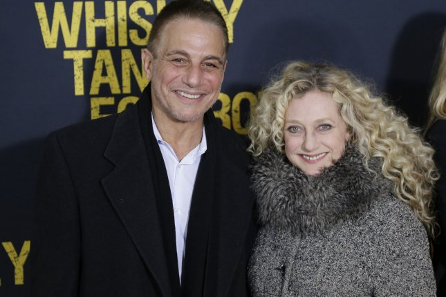 Tony Danza (L) and Carol Kane arrive on the red carpet at the Whiskey Tango Foxtrot world premiere on March 1, 2016 in New York City. Danza is set to star in a new Netflix series called The Good Cop. File Photo by John Angelillo/UPI