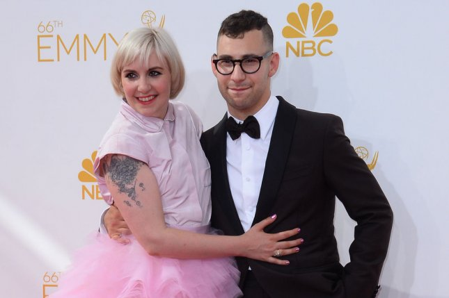 Lena Dunham (L) said she's in a good place with ex-boyfriend Jack Antonoff two years after their difficult split. File Photo by Jim Ruymen/UPI