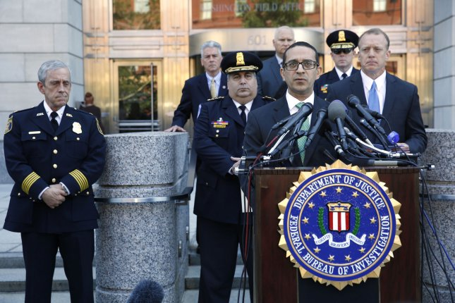Andrew Vale, assistant director in charge for the FBI Washington Field Office, speaks at a news conference in Washington on Wednesday on investigative findings in the June 14 shooting at the practice for the annual Congressional Baseball Game. Photo by Yuri Gripas/UPI