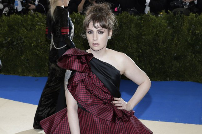 Lena Dunham attends the Costume Institute Benefit at the Metropolitan Museum of Art on May 1, 2017. File Photo by John Angelillo/UPI