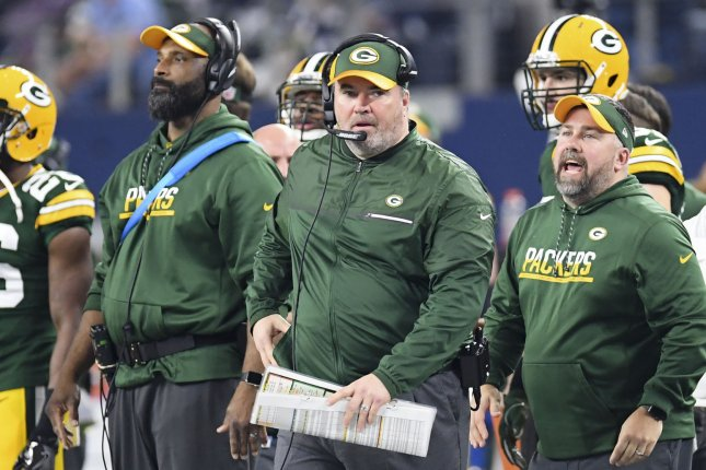 Former Green Bay Packers head coach Mike McCarthy was fired on December 2. File photo by Shane Roper/UPI