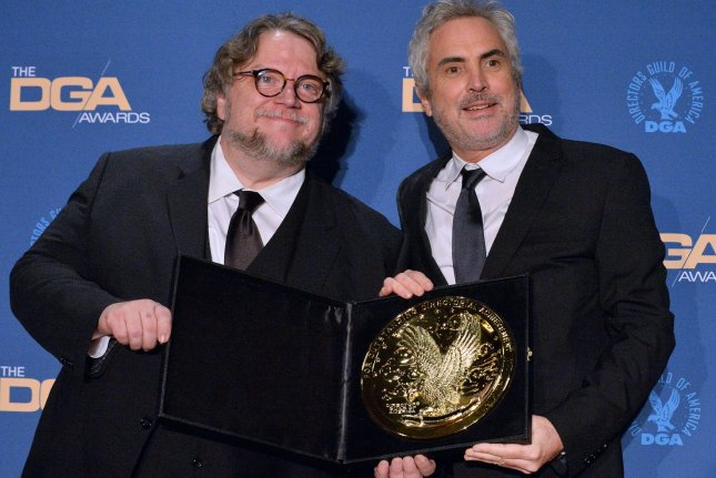 Left to right, Guillermo del Toro after and Alfonso Cuaron at the 71st annual Directors Guild of America Awards at in Los Angeles on Saturday. Cuaron won the DGA Award for Best Film for Roma. Photo by Jim Ruymen/UPI