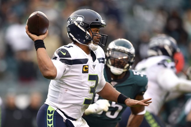 Seattle Seahawks quarterback Russell Wilson has 28 touchdowns and just five interceptions in 14 starts this season. Photo by Derik Hamilton/UPI