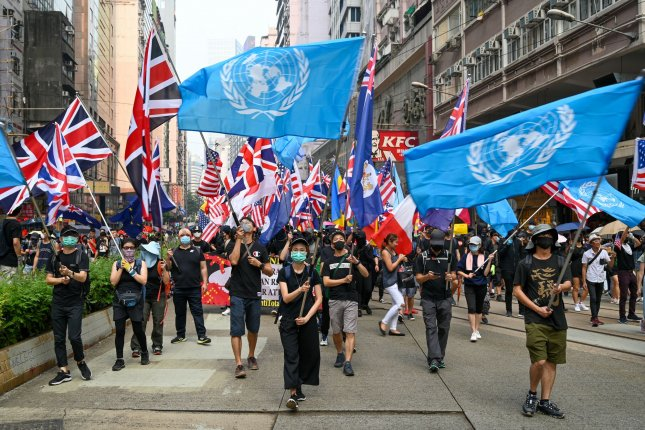 British Foreign Secretary Dominic Raab said Thursday the country would consider removing barriers to citizenship for about 300,000 people in Hong Kong after China passed a controversial security law. Photo by Thomas Maresca/UPI