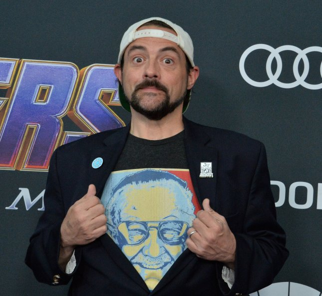 Kevin Smith attends the premiere of Avengers: Endgame at the Los Angeles Convention Center on April 22, 2019. The filmmaker turns 50 on August 2. File Photo by Jim Ruymen/UPI