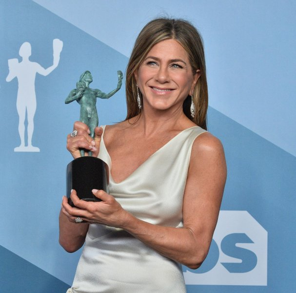 Jennifer Aniston has adopted a new puppy named Lord Chesterfield. File Photo by Jim Ruymen/UPI.
