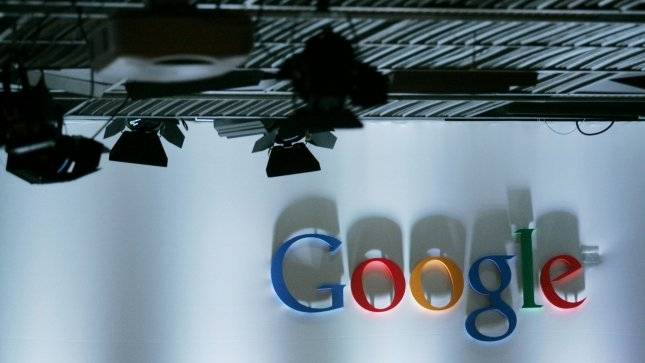 The Google logo is shown prior to the unveiling of the Nexus One Android smart phone, the first mobile phone the internet company will sell directly to consumers, during a news conference at Google headquarters in Mountain View, California January 5, 2010. UPI/Robert Galbraith/Pool
