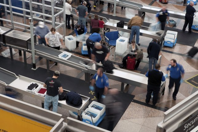 The TSA collected nearly $400,000 in loose change over the course of 2010. UPI/Gary C. Caskey