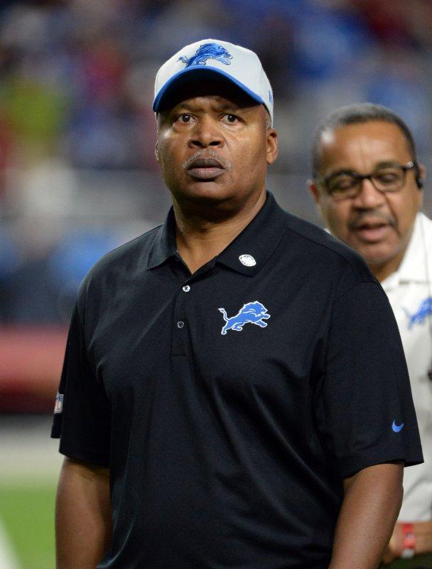 Lions head coach Jim Caldwell believes he has a future in Detroit. UPI/Art Foxall